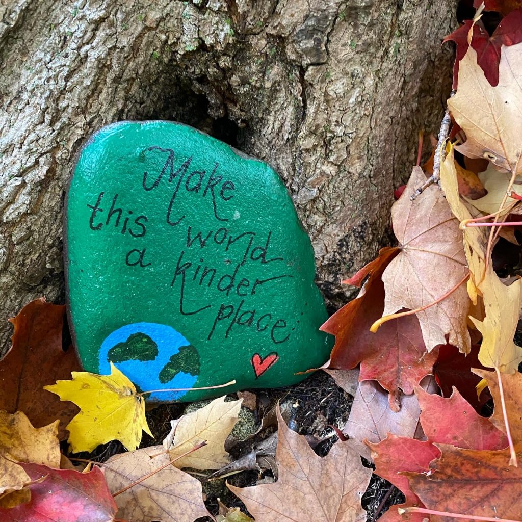 Painted stone: make the world a kinder place